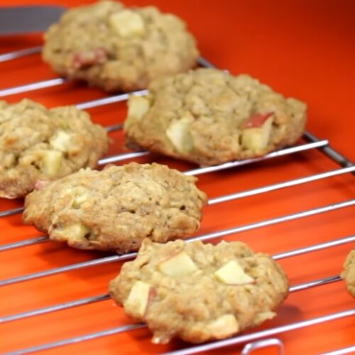 receta de galletas de avena con manzana
